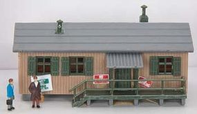 Model-Power RR Union Building Built-Up N Scale Model Railroad Building #2610