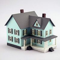 Model-Power Grandmas New House Built-Up N Scale Model Railroad Building #2617