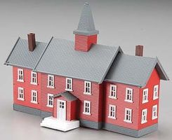 Model-Power Little Red School House Built-Up N Scale Model Railroad Building #2619