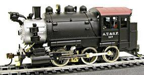 Model-Power 0-6-0 Tank Switcher Santa Fe #117 HO Scale Model Train Steam Locomotive #393001