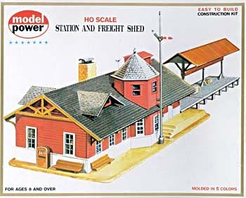Model Power Station & Freight Shed Kit -- HO Scale Model Railroad Building -- #427