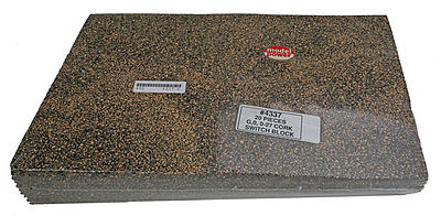 Model Power Cork Roadbed - Switch Block 12'' Long (20) -- O Scale Model Train Track Roadbed -- #4337