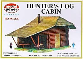 Model-Power Hunters Log Cabin Kit HO Scale Model Railroad Building #434