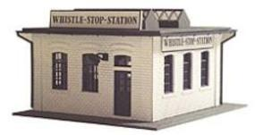 Model-Power Whistle Stop Station Kit HO Scale Model Railroad Building #444
