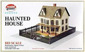 Model-Power Haunted House Kit HO Scale Model Railroad Building #486