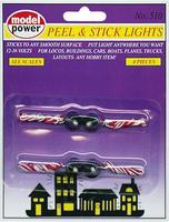 Model-Power Peel/Stick Lights 12-16V (4) Model Railroad Light Bulb #510