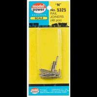 Model-Power Rail Joiners 48pcs/Card N Scale Nickel Silver Model Train Track #5325