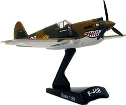 Model Power Curtiss P-40 Hells Angel HO -- Diecast Model Airplane -- 1/90 Scale -- #5354-1
