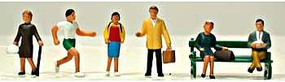 Model-Power Town People (6) HO Scale Model Railroad Figure #5705