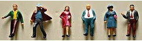 Model-Power Standing People (6) HO Scale Model Railroad Figure #5708