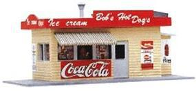 Model-Power Bobs Hot Dog Stand Built-Up HO Scale Model Railroad Building #573