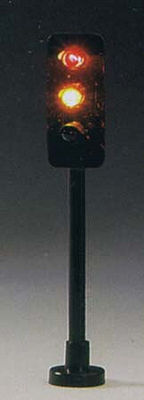 Model Power Brass 1-3 Way Traffic Light -- HO Scale Model Railroad Street Light -- #5961
