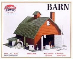 Model-Power Country Barn Kit with Accessories HO Scale Model Railroad Building #601