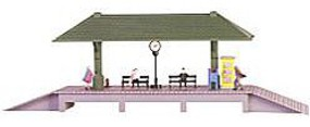 Model-Power Station Platform Kit with Accessories HO Scale Model Railroad Building #616