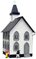 Model-Power Church Built-Up O Scale Model Railroad Building #6350