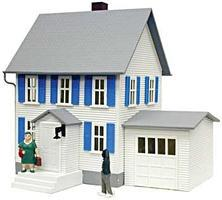 Model-Power Sinatras House Lighted Built-Up O Scale Model Railroad Building #6351