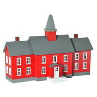 Model-Power Little Red School House Built-Up O Scale Model Railroad Building #6376
