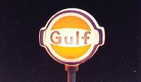 Model-Power Gulf Gas Station Signs pkg(2) HO Scale Model Railroad Roadway Sign #706