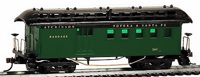 Model Power 1890 Wooden-Type Combine Santa Fe (Re-Issue) -- HO Scale Model Train Passenger Car -- #716110