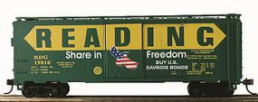 Model-Power 41 Boxcar Reading Freedom (Re-Issue) HO Scale Model Train Freight Car #734186