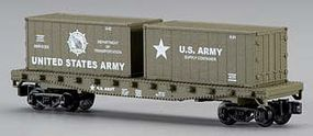 Model-Power 50Flat w/2 Cont US Army - N-Scale