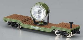 Model-Power Searchlight Car w/Figures (Metal) United States Army - N-Scale