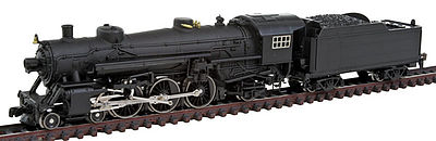 Model Power 4-6-2 with Tender & Sound Undecorated -- N Scale Model Train Steam Locomotive -- #873991