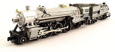 Model Power 4-6-2 Pacific w/Vandy Coal Tender UP Grey Goose -- N Scale Model Train Steam Locomotive -- #87435