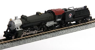 Model Power 4-6-2 Pacific with Vandy Oil Tender Great Northern -- N Scale Model Train Steam Locomotive -- #87473