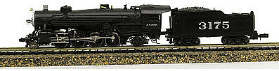 Model Power 2-8-2 Mikado with Tender DCC/Sound ATSF -- N Scale Model Train Steam Locomotive -- #875721