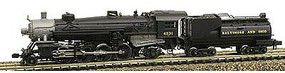 Model-Power 2-8-2 Mikado w/Vandy Coal Tender B&O N Scale Model Train Steam Locomotive #87591