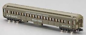 Model-Power US Army Standard Coach Car N Scale Model Train Passenger Car #88611