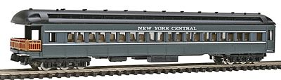 Model Power Heavyweight Observation New York Central (gray) -- N Scale Model Train Passenger Car -- #88618