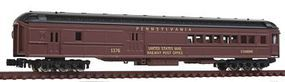 Model-Power Heavyweight Combine Pennsylvania (Brown) N Scale Model Train Freight Car #88626