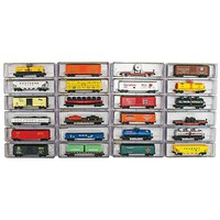 Model-Power Deluxe Heavy Weight Freight Car (24) N Scale Model Train Freight Car Set #89653