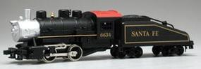 Model-Power 0-4-0 Shifter with Tender Santa Fe #6634 HO Scale Model Train Steam Locomotive #96634