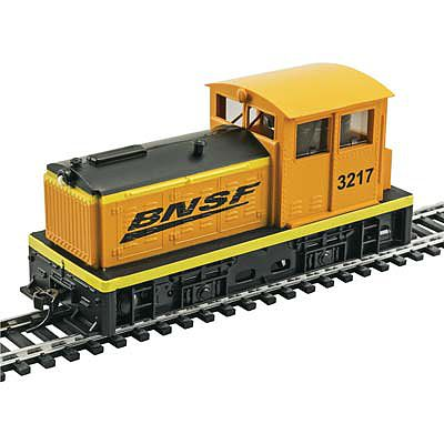 Model Power DDT Plymouth BNSF Orange/Green -- HO Scale Model Train Diesel Locomotive -- #96683