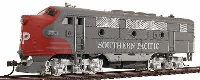 Model Power F2-A Dual Drive Powered w/Light Southern Pacific -- HO Scale Model Train Diesel Locomotive -- #96804