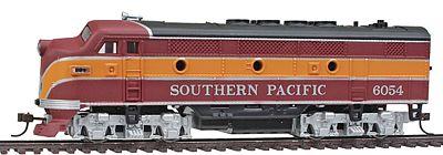 Model Power F2-A Dual Drive Powered w/Light Southern Pacific -- HO Scale Model Train Diesel Locomotive -- #96812