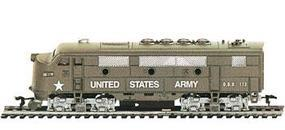 Model-Power F2A Loco US Army HO Scale Model Train Diesel Locomotive #96813