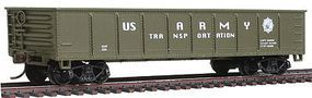 Model-Power 40 Gondola US Army HO Scale Model Train Freight Car #98510