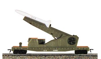 Model Power US Army Missile Launcher Car w/3 Missiles HO