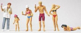 Merten Ice-Cream Seller On The Beach with Bathers Model Railroad Figure HO Scale #2552