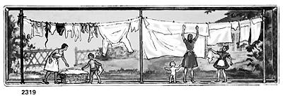 Merten Women Hanging Laundry -- Model Railroad Figure -- Z Scale -- #72319