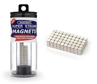 Magcraft Rare Earth Magnets 1/8'' Rare Earth Cube Magnets (100)