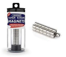 Magcraft 1/4x1/8x1/4 Rare Earth Cylinder Magnets (25)