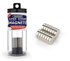 Magcraft 1/2x1/8 Rare Earth Disc Magnets (14)
