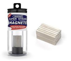 Magcraft 1x1/4x1/10 Rare Earth Block Magnets (12)