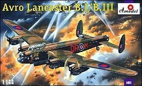 A-Model-From-Russia Avro Lancaster BI/BIII RAF Bomber Plastic Model Airplane Kit 1/144 Scale #1411