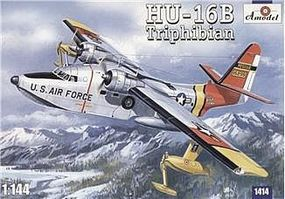 A-Model-From-Russia HU16B Triphibian USAF Transport Hydroplane Plastic Model Airplane Kit 1/144 Scale #1414